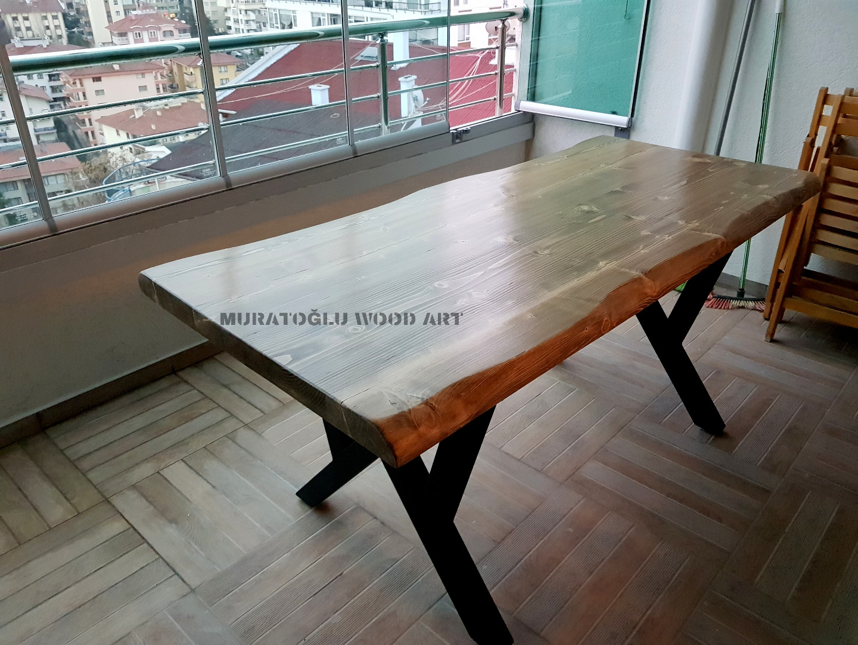 Ladin Kütük Balkon Masası